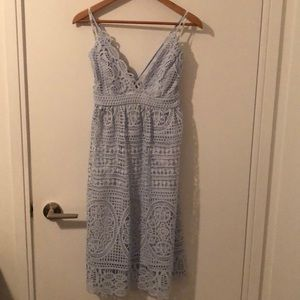 Bardot Versailles Blue Lace Dress